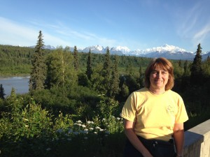 Jeryl in front of Denali