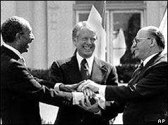 Sadat Carter Begin handshake (cropped) - USNWR - Egypt–Israel Peace Treaty - Wikipedia, the free enc