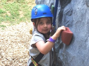 Very Young girl on Terrapin Explorer rock wall